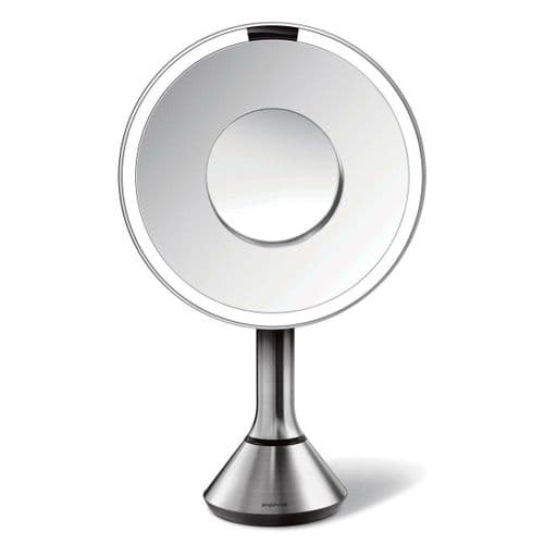 "Simplehuman 8"" Round Magnification Sensor Mirror ST3200"